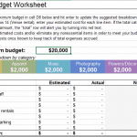 Little Wedding Guide's Wedding Budget Worksheet in Excel format.